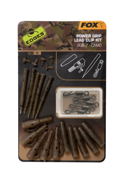 Edges Camo Power Grip Lead Clip Kit Sz 7