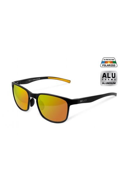 Polarizuoti saulės akiniai Delphin SG BLACK orange glasses