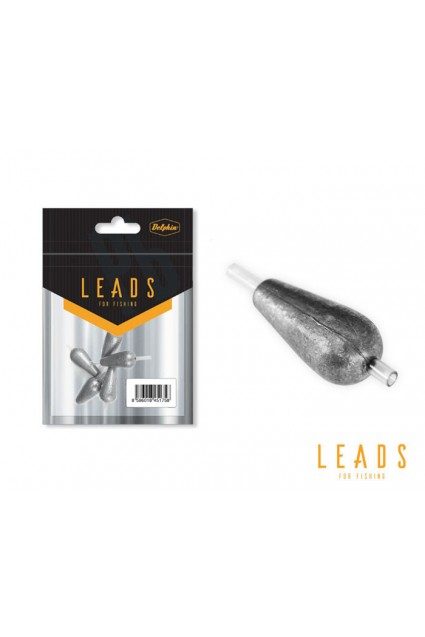 Svarelis su vamzdeliu Delphin LEADS Pear with a tube / 5vnt