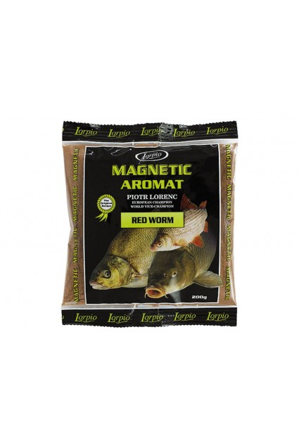 Sausas priedas LORPIO Magnetic Red Worm 200 g